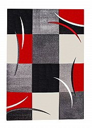 Rug 133 x 190 cm (wilton) - London Patch (red)