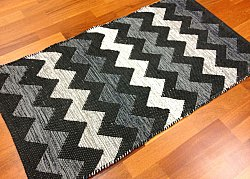 Rag rugs from Stjerna of Sweden - Dalarna (black/grey/white)