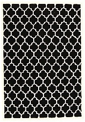 Rug 160 x 230 cm (wool) - Madrid (black)