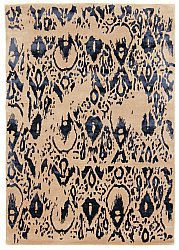 Rug 160 x 230 cm (wool) - Dolianá (beige/blue)