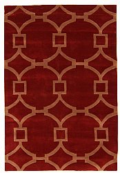 Rug 160 x 230 cm (wool) - Apollónia (red/beige)