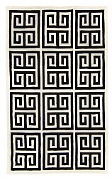 Rug 300 x 400 cm (wool) - Gimari (black/white)