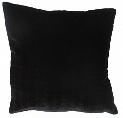 Velvet cushion (black) (cushion cover) 45 x 45 cm
