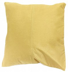 Velvet cushion (yellow) (cushion cover) 45 x 45 cm