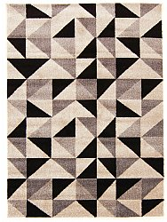 Rug 140 x 190 cm (wilton) - Leola (white/brown)