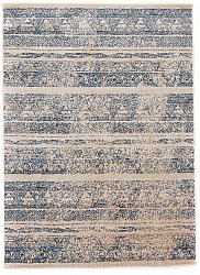 Rug 140 x 190 cm (wilton) - Sancia (white/blue)