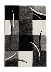 Rug 160 x 230 cm (wilton) - London Patch (black)