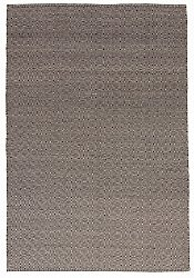 Rug 165 x 235 cm (wool) - Varella (black/white)