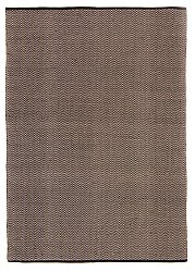 Rug 300 x 400 cm (cotton) - Marina (black)