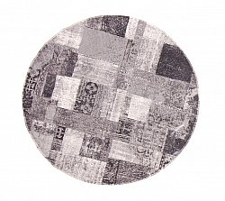 Rag rugs - Dalyan (round) (black/grey/white)