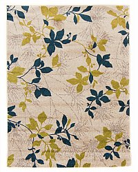 Rug 140 x 190 cm (wilton) - Valeria (white/green/blue)
