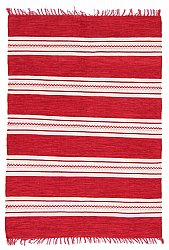 Rug 135 x 190 cm (cotton) - Kajsa (red)