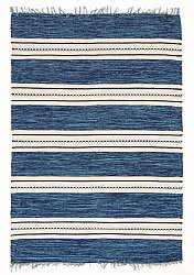 Rug 135 x 190 cm (cotton) - Kajsa (blue)
