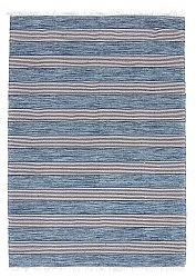 Rug 170 x 240 cm (cotton) - Juni (blue)