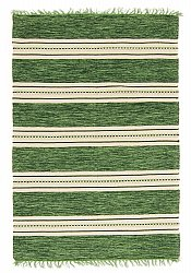 Rag rugs Large - Kajsa (green) 160 x 230 cm