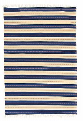 Rug 140 x 200 cm (cotton) - Alva (blue)