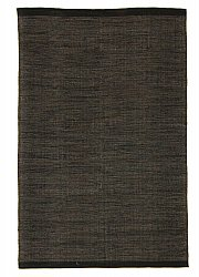 Rug 140 x 200 cm (cotton) - Slite (black)