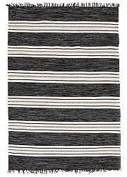 Rug 135 x 190 cm (cotton) - Kajsa (black)