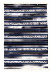 Rug 140 x 200 cm (cotton) - Ystad (blue)