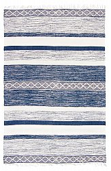 Rug 140 x 200 cm (cotton) - Nikita (blue)