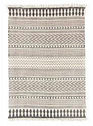 Rug 140 x 200 cm (cotton) - Marrakech (black/grey/white)