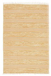Rug 170 x 240 cm (cotton) - Juni (yellow/beige)