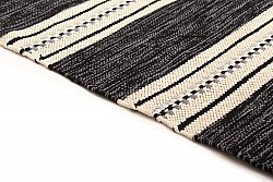 Rag rugs Large - Kajsa (black) 160 x 230 cm