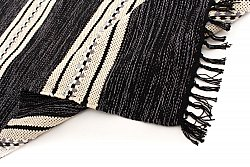Rag rugs from Stjerna of Sweden - Kajsa (black)