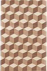 Rug 200 x 300 cm (wool) - Floriáda (beige/brown)