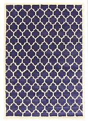 Rug 160 x 230 cm (wool) - Madrid (blue)