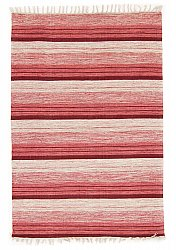 Rug 140 x 200 cm (cotton) - Fylke (red)