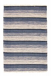 Rug 140 x 200 cm (cotton) - Fylke (blue)