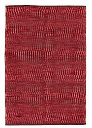 Rag rugs Large - Tuva (red) 160 x 230 cm