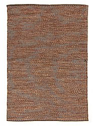 Rug 135 x 190 cm (cotton) - Tuva (brown/beige)