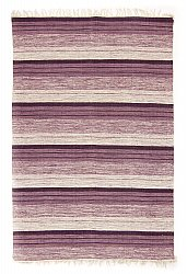 Rug 140 x 200 cm (cotton) - Fylke (purple)
