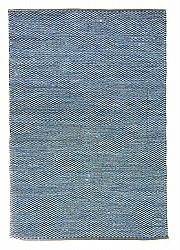 Rug 160 x 230 cm (cotton) - Tuva (blue)
