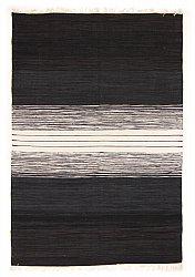 Rug 140 x 200 cm (cotton) - Lisa (black)