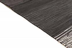 Rag rugs from Strehög of Sweden - Lisa (black)