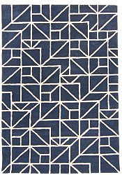 Rug 200 x 300 cm (wool) - Heraklion (blue)