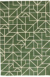 Rug 160 x 230 cm (wool) - Heraklion (green)