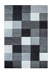 Rug 133 x 190 cm (wilton) - London Mosaik (grey)