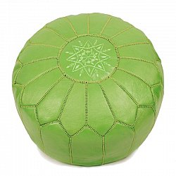 Pouf - Moroccan leather pouf (green)