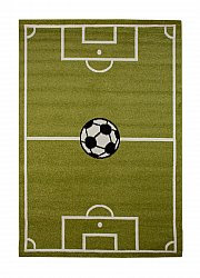 Childrens rugs - Leeds Football (green)