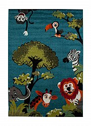 Childrens rugs - Leeds Animals (blue)
