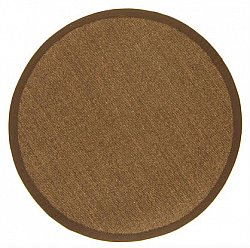 Round rug (sisal) - Manaus (dark brown)