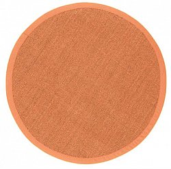 Round rug (sisal) - Manaus (brown/orange)