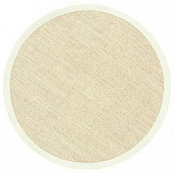 Round rug (sisal) - Salvador (nature/white)