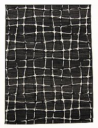 Wilton rug - Florence Cross (black)