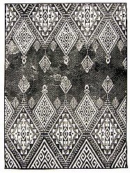 Wilton rug - Florence York (black)