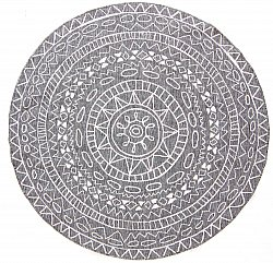 Round rug - Brussels Diamond (grey)
